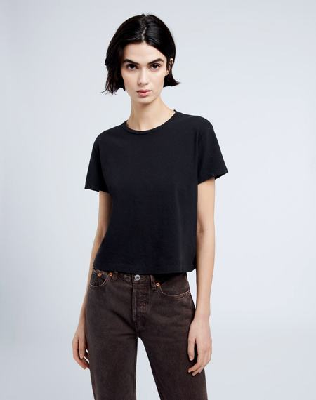 RE/DONE 1950s Boxy Tee - Washed Black