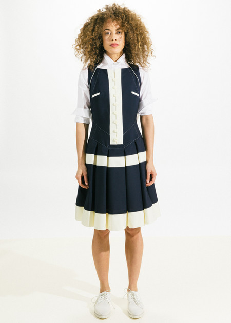 Shiro Sakai Button Up Pleat Dress