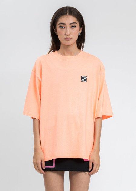 we11done Neon Orange Homesick Mini Logo Patch T-Shirt