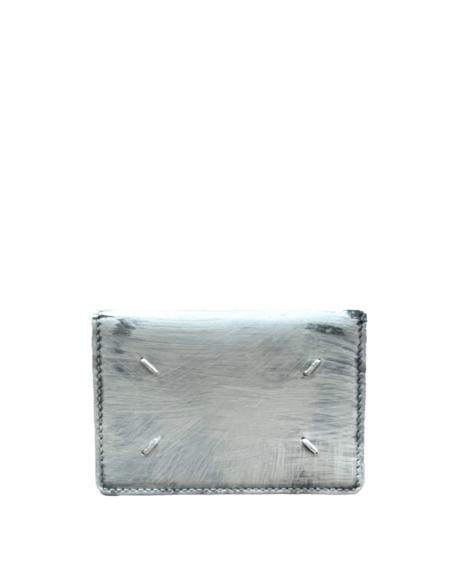 Maison Margiela Black Card Holder - White Paint