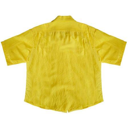 KAPTAIN SUNSHINE Open Collar SS Shirt - SUN YELLOW