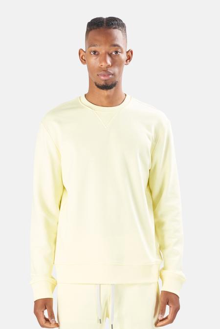 Blue&Cream Sunset Sweatshirt Sweater - BEACH Yellow