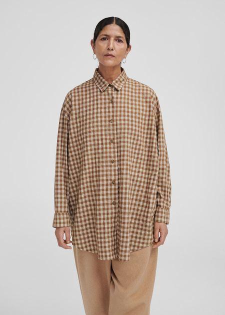 Mónica Cordera Checkered Shirt - Breen