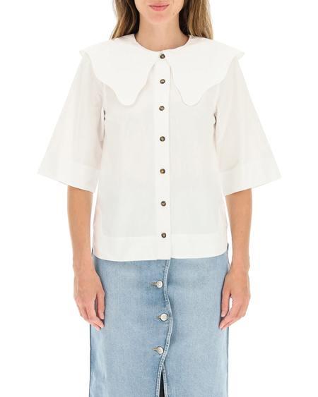 GANNI Fabric Shirt - White