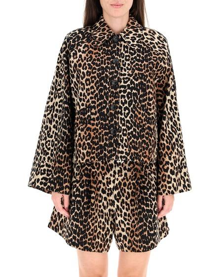 GANNI Leopard Print Jacket - Multicolor