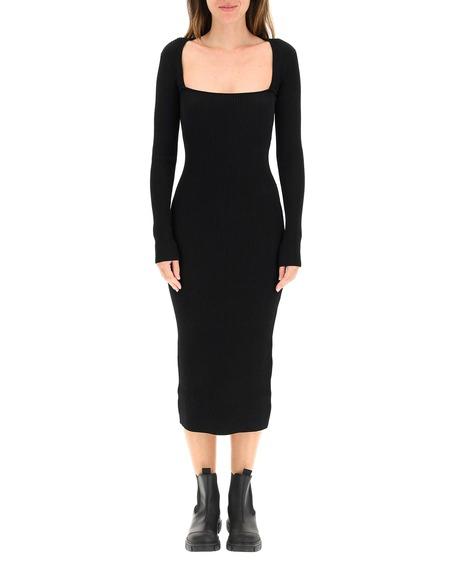 GANNI Mini Fabric Dress - Black