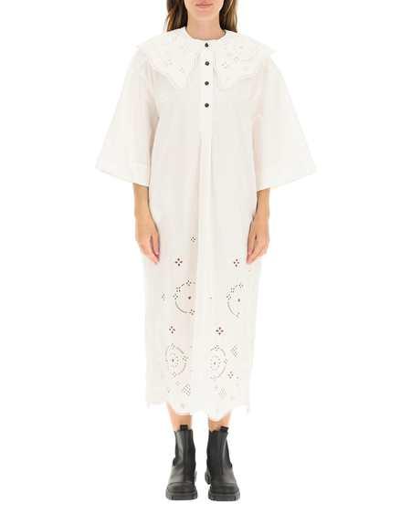 GANNI Long Dress - White