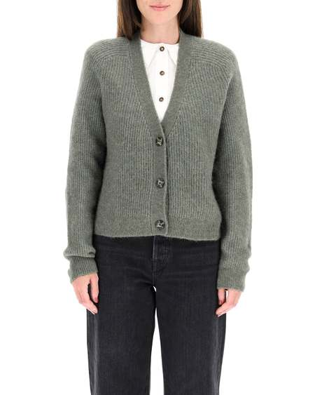 GANNI Cotton Cardigan - Green