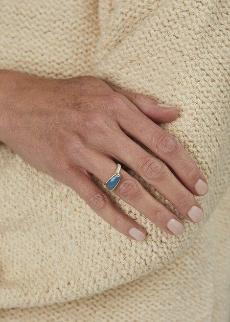 Heather Guidero Rosecut Lazulite Quartz Ring - Silver