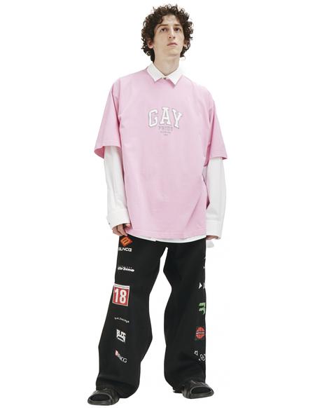Balenciaga Gay Pride Embroided T-shirt - Pink