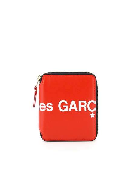 Comme des Garçons Leather Wallet with Zip Wallet - Red