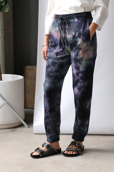 Raquel Allegra Tracker Pant - Nebula Tie Dye