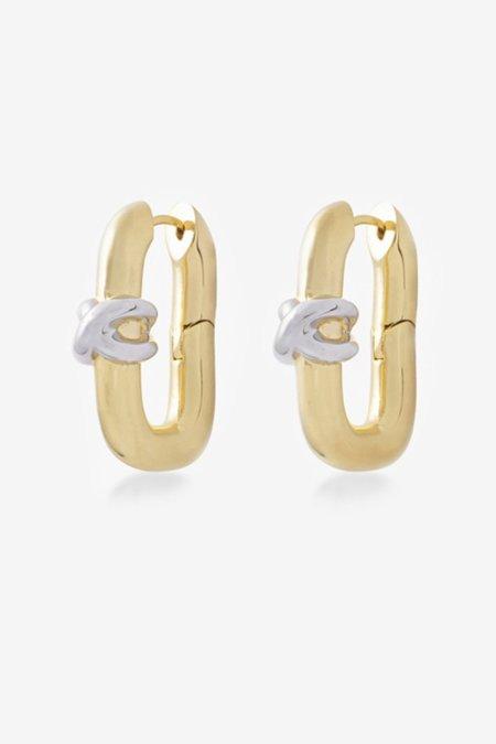 S_S.IL KNOT LOCK EARRINGS - GOLD