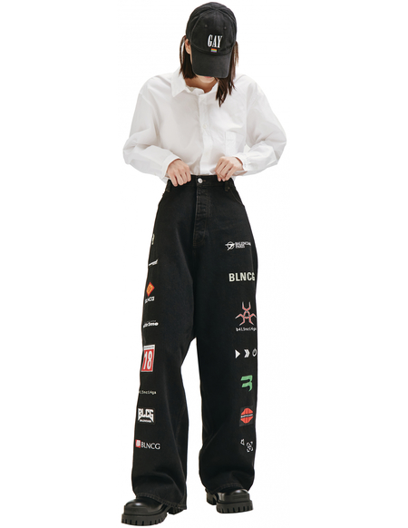 Balenciaga Gamer Jeans - Black