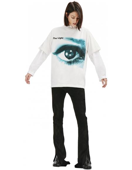 Saint Michael The Eye Printed T-shirt - white