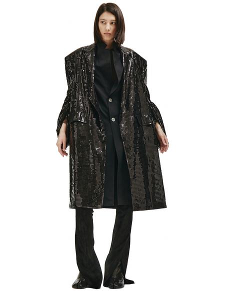 Junya Watanabe Sequins Coat - black