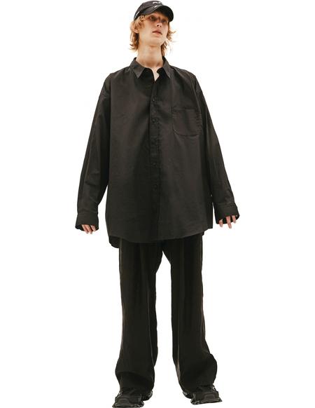 Balenciaga Oversize Shirt - Black