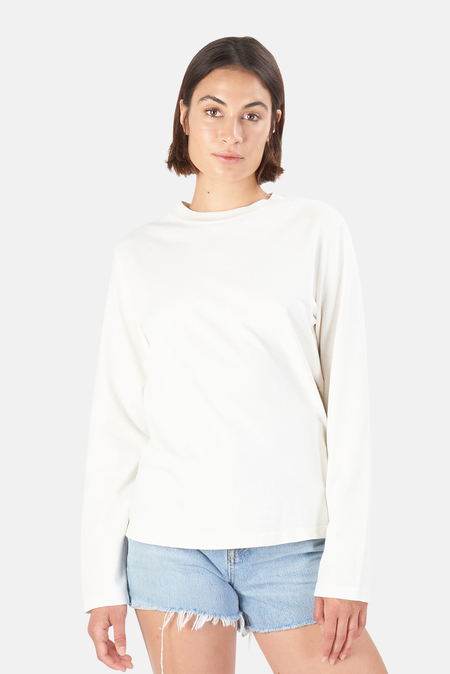 RE/DONE 50s Long Sleeve T-Shirt - Vintage White