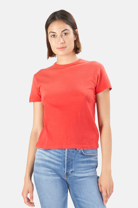 RE/DONE Classic T-Shirt - Faded Crimson