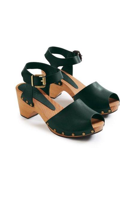 Lisa B. Peep Toe High Heel Clogs - Ivy