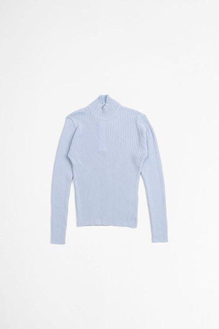 Sunflower Rib Sweater - Light Blue
