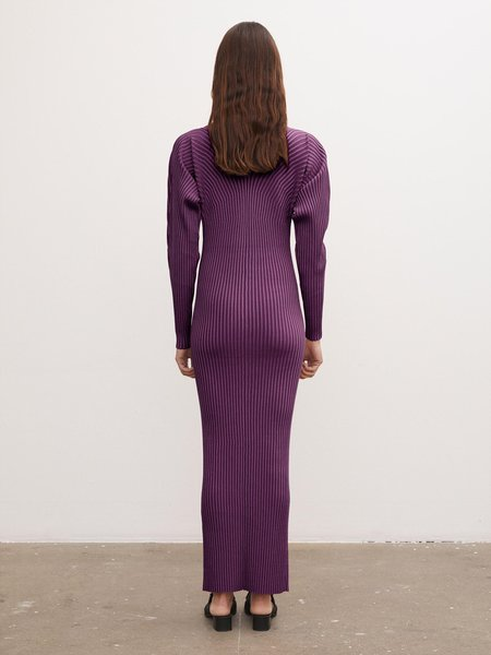 By Malene Birger Ocotea Ribbed Dress - Catawba Grape