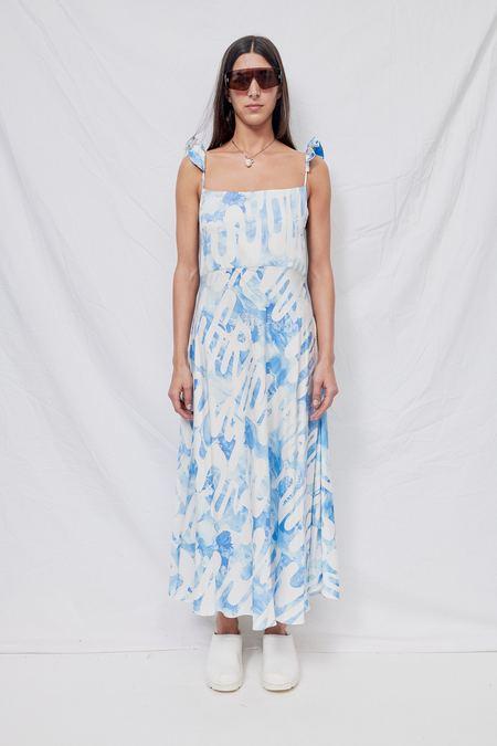Collina Strada Sistine Tomato Market Ruffle Dress - Blue