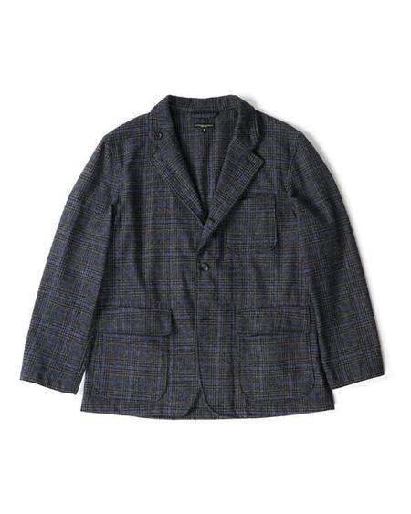 Engineered Garments Loiter Jacket - Dk. Grey/Blue Poly Wool Glen Plaid