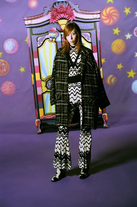 Anna Sui Wavy Vibe Knit Top - Black Multi