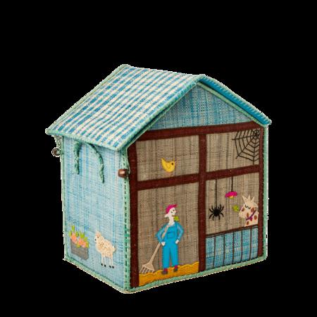 Kids Rice Small Toy Basket - Farm Design