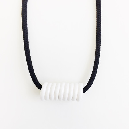 Aubrey Hornor Black Cord Coil Necklace