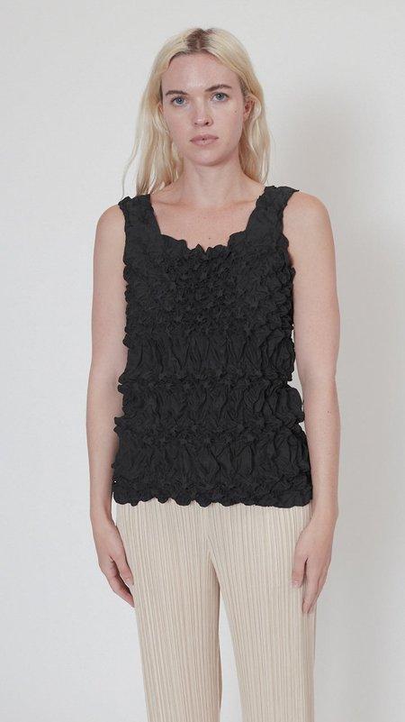 Issey Miyake Dots Shibori Top - Black