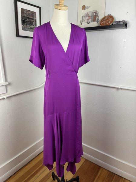 PRE-LOVED ALC Wrap Dress - Purple