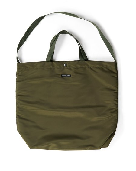 Engineered Garments Flight Satin Nylon Carry All Tote - Olive