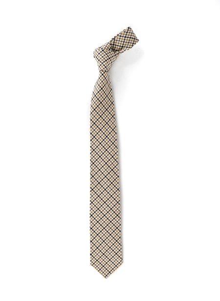 Engineered Garments Cotton Neck Tie - Beige/Black Big Tattersall
