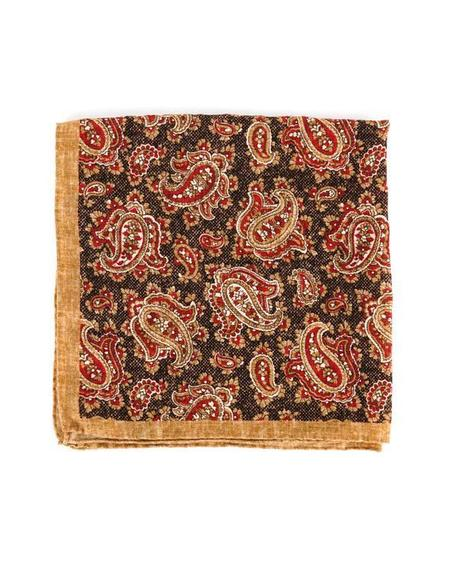 Engineered Garments Wool Neckerchief - Brown Paisley