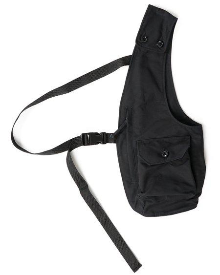 Engineered Garments Cotton Double Cloth Shoulder Vest - Black
