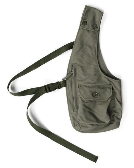 Engineered Garments Cotton Double Cloth Shoulder Vest - Olive