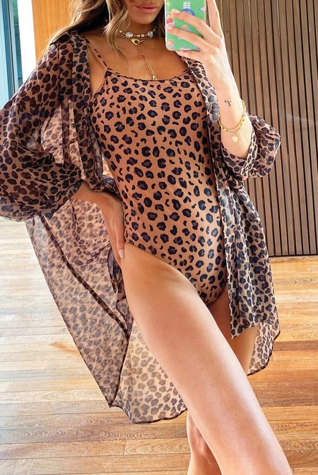 NEVER FULLY DRESSED Swimsuit - Leopard