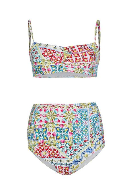 NEVER FULLY DRESSED Rouche Front Paola Bikini - Multi