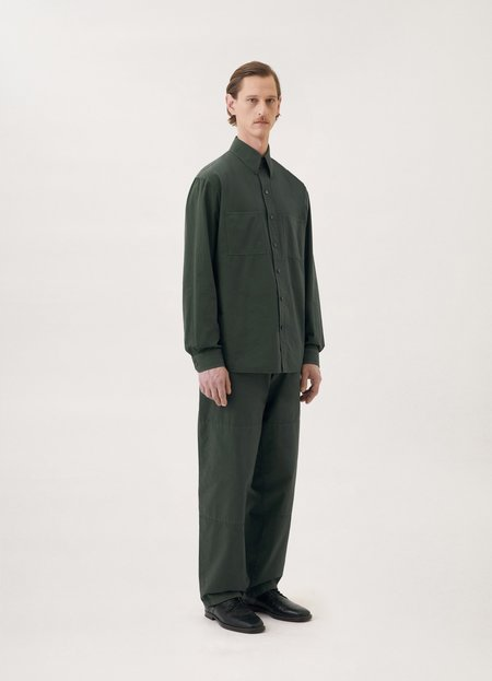 Lemaire Patch pocket shirt - deep forest