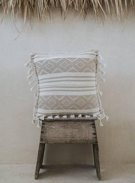La Tiendita Tulum Embroidered Pillow - Off White