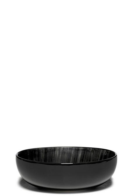 Ann Demeulemeester Var C DÉ 13cm High Plate - Off-White/Black