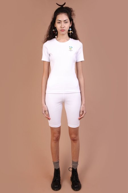 Meadows Forget Me Not Bean Tee - White