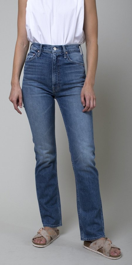 Mother Denim High Waisted Rider Skimp Jeans - Cowboys Don't Cry