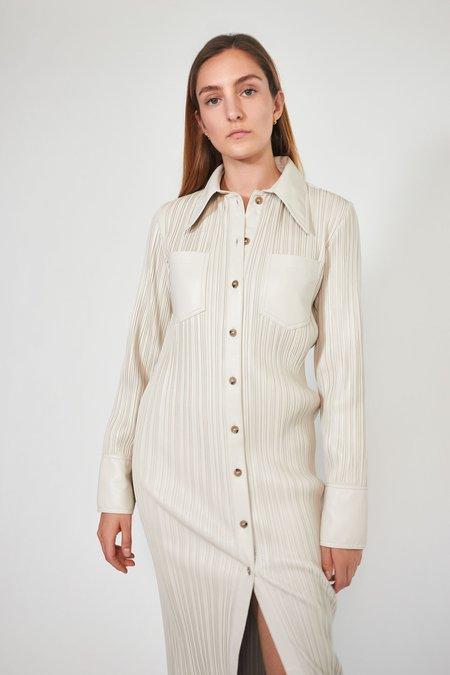 Nanushka Lee Dress - Creme Pleat