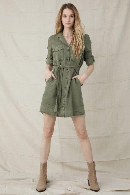 Bella Dahl Belted Utility Shirt Dress - Basil