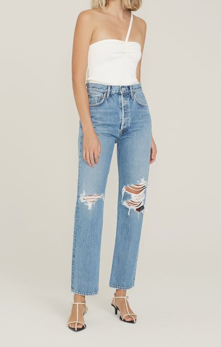 AGOLDE 90's Pinch Waist High Rise Straight Backdrop Jeans