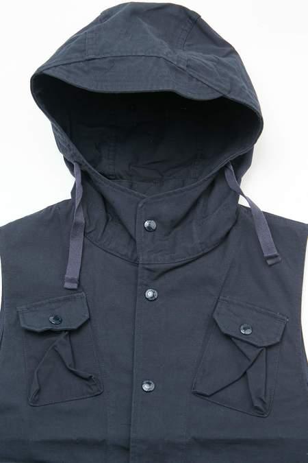 Engineered Garments Heavyweight Cotton Ripstop Field Vest - Dark Navy