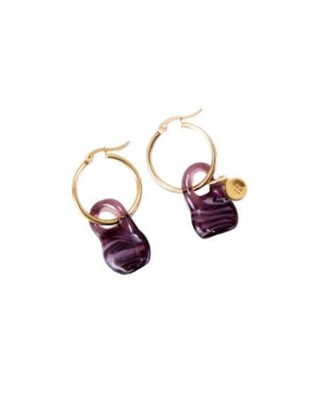 Jean Riley Bag Hoops - Purple
